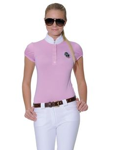 Kim Show Shirt Colour: Pink In typical Spooks style, this competition blouse combines functionality and good looks. Equestrian Outfits, Equestrian Style, Equestrian Fashion, Riding Hats, Riding Clothes, Horse Riding, Horse Accessories, Camisa Polo, Shirts For Girls