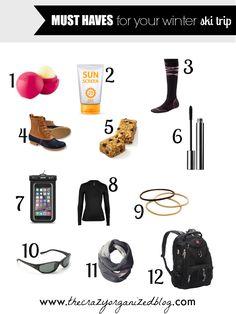 Surprising supplies to bring on your next ski trip!!
