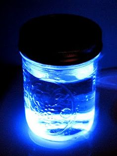 Pour water into a mason jar and add a glow stick. Place jars around pools, patios, or sidewalks during you next late night get together