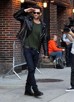 - Adam Levine Blazes Through 'Letterman' With His Hotness   OK! Magazine
