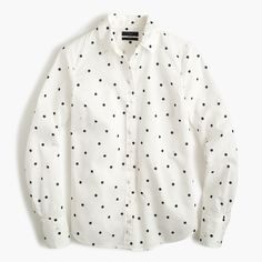J.Crew Valentine's Day Shop:bshirt in onyx dot