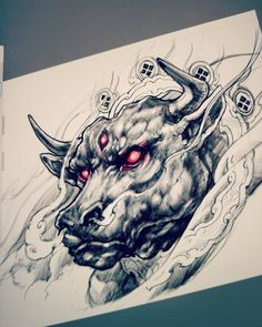 Bull sketch. #sketch #drawing #illustration #sketchbookpro #ipadpro #bull #chronicink