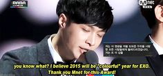 """Lay's winning speech for the """"Artist of the Year in Asia"""" Award at the MAMAs 2014 (4/5)"""