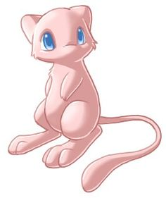 Mew - Pokemon Fan Art I named my cat after mew Pokemon Mew, Pokemon Fan Art, Mew And Mewtwo, Pokemon Eeveelutions, Pokemon Stuff, Pikachu, Pokemon Pins, Mythical Pokemon, Cartoon Fan
