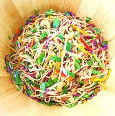 The Alchemist - Asian Noodle Salad, this salad is always a hit at parties, it's full of flavor and easily made gluten free
