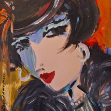 George Hamilton Art - acrylic figurative paintings