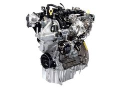 Ford 1-Liter EcoBoost Engine  With its EcoBoost engine, Ford has engineered far more efficiency into the classic internal combustion engine, maintaining performance and boosting fuel economy without resorting to a heavy and expensive hybrid powertrain. Ford's 1-liter EcoBoost engine has only three cylinders and roughly two-thirds the displacement of the 1.6-liter engine that comes standard in the 2013 Ford Fiesta—but nearly the same power and more torque thanks to its turbochargers.