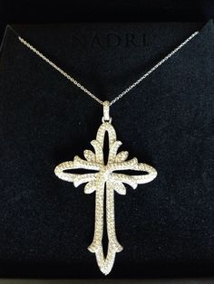 QVC NADRI large CROSS PENDANT NECKLACE!! FANCY!! Crystals in Jewelry & Watches, Fashion Jewelry, Necklaces & Pendants | eBay