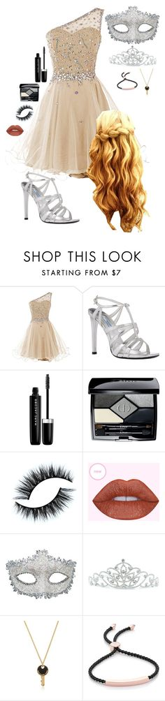 """""""Ball 2 (Shawn)"""" by lily-hollibaugh on Polyvore featuring Prada, Marc Jacobs, Christian Dior, Masquerade, Kate Marie, Marc by Marc Jacobs and Monica Vinader"""