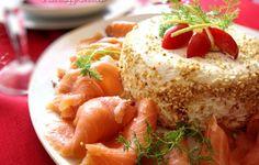 Antipasto salmone e formaggi cremosi