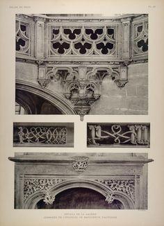 1911 Print Gothic Carving Oratory Chapel Brou Church - ORIGINAL BRO1