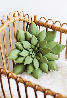 Handmade Succulent Pillow | BohoBabyHeaven on Etsy #nurserydecor
