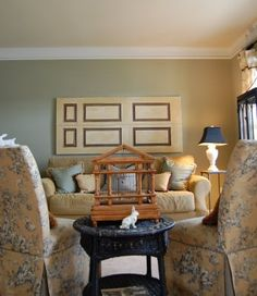 sherwin williams - svelte sage - for the boys' room? Popular Paint Colors, Favorite Paint Colors, Wall Paint Colors, Interior Paint Colors, Svelte Sage, Office Wall Colors, Small Living Rooms, New Furniture, Family Room