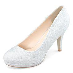Shoezy Pump Platform Stiletto Shoes Women's Closed Toe High Heel Office Work Comfort Glitter Silver Size US10 Shoezy http://www.amazon.com/dp/B00N4R3742/ref=cm_sw_r_pi_dp_O6EWub0RBHPAR