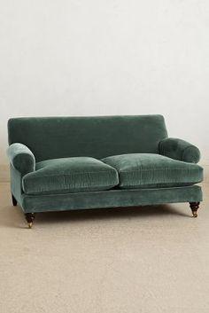 Velvet couch anthropologie