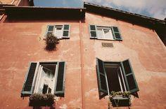 terra cotta paint.  rome, italy.
