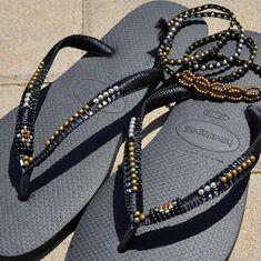 Sandalias ojotas sandalias negro sandalias Hippie