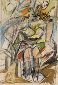 Willem de Kooning - Woman (Seated Woman I)