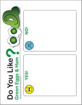 Updated Graphing Printables For Green Eggs And Ham By Dr Seuss