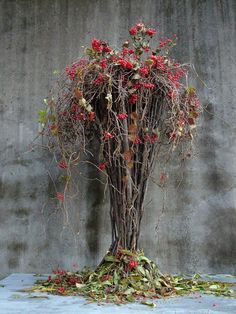 'Anger Rising' By Chaerry Rhim. Modern Floral Arrangements, Flower Arrangements, Wedding Flower Inspiration, Garden Inspiration, Ikebana, Fall Flowers, Dried Flowers, Deco Floral, Floral Design