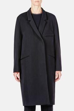Christophe Lemaire — Dress Coat Black — THE LINE