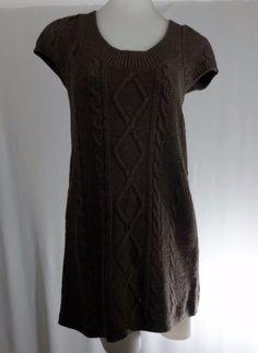 EXPRESS Small Brown Short Sleeve Short Sweater Dress #Express #SweaterDress #Casual