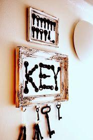 my shabby white home: Ako som využila staré kľúče