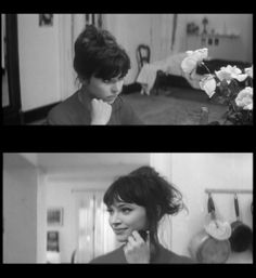 "Anna Karina, ""Une Femme Est Une Femme"" why are her bangs so perfect? I wish I could pull off this look."