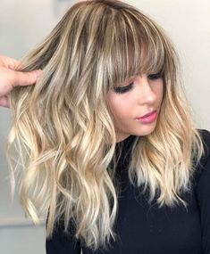 Let your hair down and let your confidence shine. Featuring by Blonde Hair With Fringe, Brown Blonde Hair, Blonde Ombre, Ombré Hair, New Hair, Shaggy Haircuts, Hair Growth Treatment, Stop Hair Loss, Ombre Hair Color