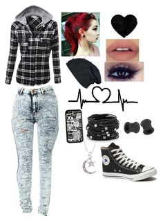 """Standing in the hall of fame"" by raz0rs ❤ liked on Polyvore featuring moda, Chico's y Converse"