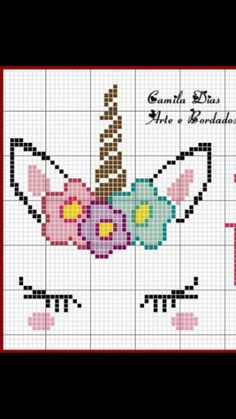 Your Own Cross Stitch Embroidery Patterns - Embroidery Patterns Unicorn cross stitch. I'd use actual fake eyelashesUnicorn cross stitch. I'd use actual fake eyelashes Unicorn Cross Stitch Pattern, Cross Stitch Baby, Unicorn Pattern, Cross Stitch Alphabet, Cross Stitch For Kids, Crochet Unicorn, Cross Stitching, Cross Stitch Embroidery, Hand Embroidery