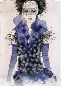 shu84: Alicia Malesani Fashion Illustrations  #illustration #fashion #donnevincenti@ @Alicia Malesani