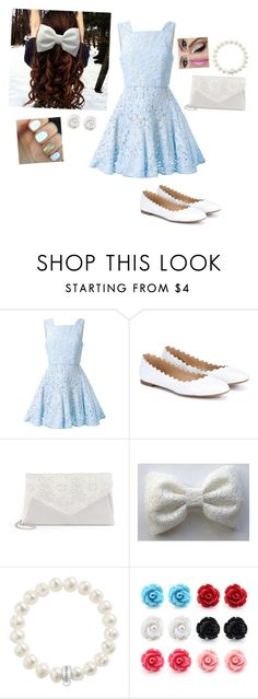 """Blue Lace"" by the-ravenclaw-princes ❤ liked on Polyvore featuring Alex Perry, Chloé, Gunne Sax By Jessica McClintock and Thomas Sabo"