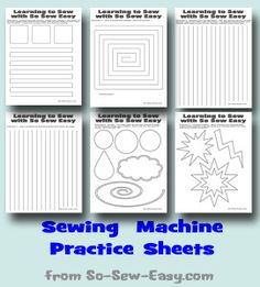 Sewing Basic Learn to sew and use your sewing machine with these Sewing Machine Practice Sheets. - Looking to learn to sew or teach a child to sew? Then these sewing machine practice sheets are perfect. 6 different sheets to print on paper and practice. Sewing Basics, Sewing Hacks, Sewing Tutorials, Sewing Crafts, Sewing Tips, Basic Sewing, Tutorial Sewing, Sewing Ideas, Sewing Art