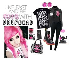 """""""LIVE FAST AND BE CUTE WITH DROP DEAD"""" by drunk-inlove ❤ liked on Polyvore featuring BLK DNM, Dr. Martens, Sugarpill, OPI, Manic Panic NYC, Napoleon Perdis, Clarins and NARS Cosmetics"""