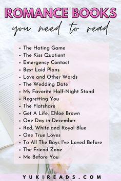 The Best Romance Books Reading List