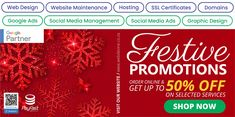 Order online & get up to 50% OFF on selected services!! Helping our clients make money since 2003. #WebDevine #WebDesignCompany #WebsiteMaintenance #Hosting #SSLcertificates #SocialMediaManagement #SocialMediaAds #GoogleAds #DigitalAdvertising #CompanyProfiles #FestivePromotions #staysafesa Web Design Company, Logo Design, Website Maintenance, Social Media Ad, Google Ads, Corporate Branding, Online Advertising, Company Profile, Design Development