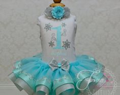 Custom Snowflake First Birthday Outfit by FourSweetHeartsTutus