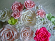 - Handcrafted sugarflowers