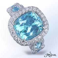 JB Star Platinum & Paraiba Ring