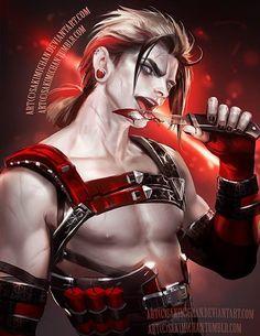 genderbend Harley Quinn by Sakimi Chan