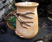 Items similar to Tree mug for the nature love, 18 oz. coffee mug, tea mug, beer stein, functional handmade pottery on Etsy