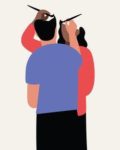 anna parini | illustrations for @edbookfest campaign #illustration #book #woman #man #red #blue #drawing #paint #create #couple #italian