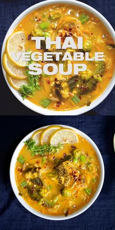 Thai Vegetable Soup Recipe - prepare this easy one pot Thai curry coconut soup with fresh vegetables. Wholesome healthy and delicious Asian recipe to make for dinner tonight. Thai Vegetable Soup, Vegetable Soup Recipes, Vegetable Soup Seasoning, Low Calorie Vegetable Soup, Laksa Soup Recipes, Coconut Soup Recipes, Thai Curry Recipes, Thai Curry Soup, Coconut Curry Soup