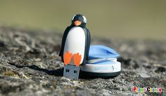 Penguin shaped custom flash drive.Turn your logo, product or idea into a custom shaped flash drive or power bank #marketing, #promo #ad_specialty #flash_drive #usb #memory_stick #custom