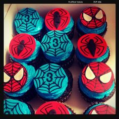 Spiderman Cupcakes! :) - Visit to grab an amazing super hero shirt now on sale!