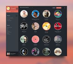 Music app concept designed by Benoît Philibert. Web Design, App Ui Design, Mobile App Design, User Interface Design, Mobile Ui, Editorial Design, Ui Design Inspiration, Library Inspiration, Gnu Linux