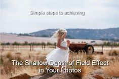 Learn some beginner photography tips on how to achieve the shallow depth of field effect in your photos.