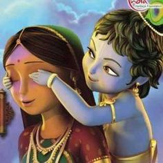 Mom's love, they say when you love from true heart ❤️ Krishna will give peace to your heart and soul ❤️ Baby Krishna, Little Krishna, Radha Krishna Love, Arte Krishna, Krishna Leela, Krishna Drawing, Krishna Painting, Lord Krishna Wallpapers, Radha Krishna Wallpaper