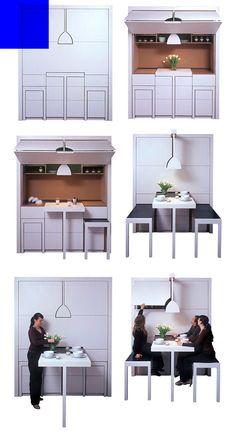 Compact Kitchen #kitchen #compact #unique #householditems